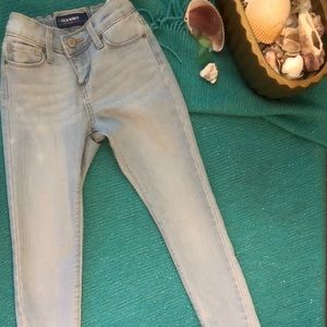 Girls light blue slim jeans with stretch